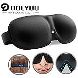 Masque de sommeil pour femme et homme, design breveté Masque de nuit 100% occultant Masque pour les...
