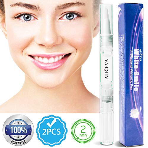 Aliceva Teeth Whitening Pen - Natural & Safe Tooth Whitener Treatment with...