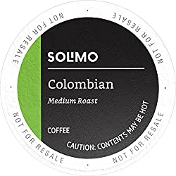 Amazon Brand - 24 Ct. Solimo Coffee Pods, Colombian, Compatible with Keurig 2.0 K-Cup Brewers