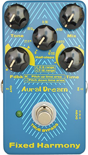Aural Dream Fixed Harmony Digital Guitar Pedal with double sound Harmony effect and Shifting semitones or Octaves effects,True BypassMEHRWEG