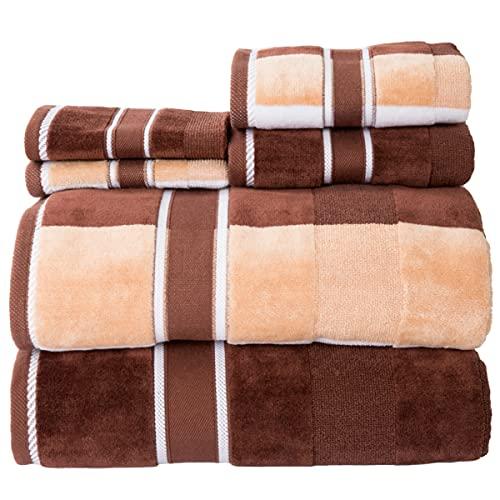 Lavish Home Oakville Velour, 100% Cotton, Soft, Lightweight Highly Absorbent...