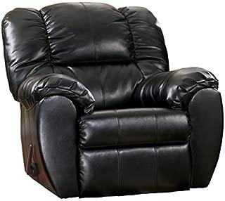 Ashley Furniture Signature Design - Dylan Rocker Recliner - Pull Tab Manual Reclining Sofa - Contemporary - Onyx Black