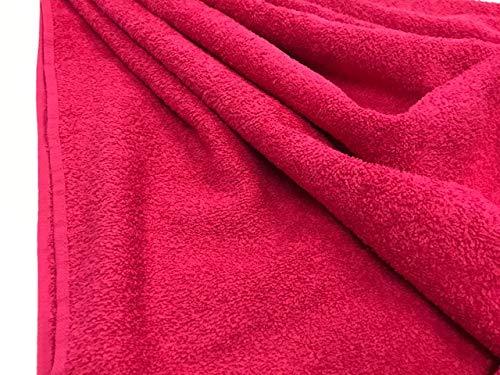 tela de rizo, color fucsia, tela de toalla, algodón 100%, albornoces, cambiadores, tela por metros, 1 metro x 160 cms, ENVIOS GRATUITOS