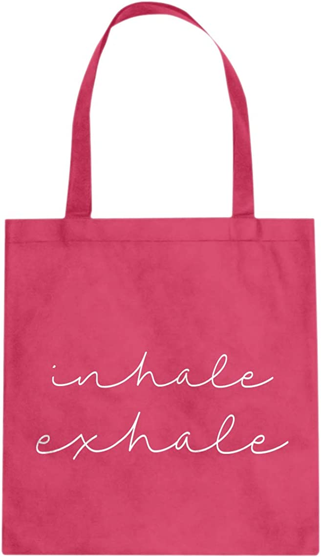 Inhale and Exhale Cotton Canvas Tote Bag