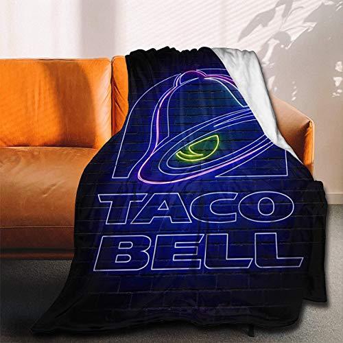 Taco Bell - Manta de franela con luces de neón para sofá, tamaño pequeño, 156 x 100 cm (mano)