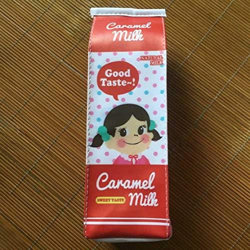 XINGSd Nieuwste Trendy Pu Creatieve Simulatie Melk Cartons Potlood Case Kawaii Stationerys Pouch Pen Bag HGGJ