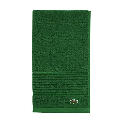 """Lacoste Legend Towel, 100% Supima Cotton Loops, 650 GSM, 16""""x30"""" Hand, Field Green"""