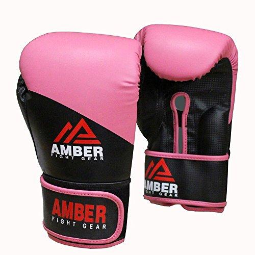 Amber Fight Gear Pro Estilo - Guantes de Entrenamiento, Rosa, 10 Oz