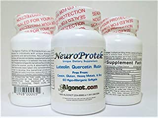 NeuroProtek 1 Bottle Pack (60 gelcap) Exclusive Patented Combination of Luteolin, Quercetin & Rutin in Olive Pomace Oil wi...