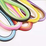 YURROAD 36 Colori 720 striscia Quilling Kit di strisce di carta (larghezza 3mm, lunghezza 54cm)