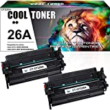 Cool Toner Compatible Toner Cartridge Replacement for HP 26A CF226A 26X CF226X Laserjet Pro M402n M402dn M402dw M402 Laserjet Pro MFP M426fdw M426fdn M426dw M402d 402n M426 Printer Ink (Black 2-Pack)