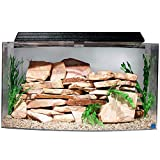 """SeaClear 46 gal Bowfront Acrylic Aquarium Combo Set, 36 by 16.5 by 20"""", Clear"""