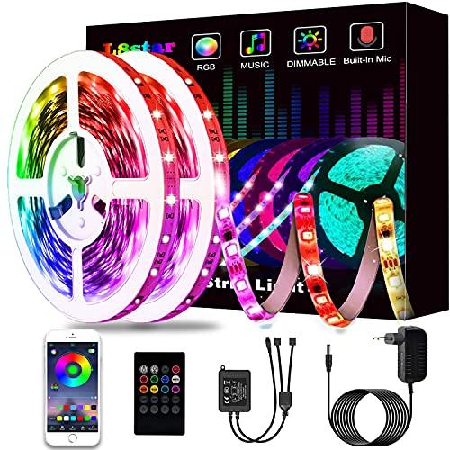 Ruban à LED 15M, L8star LED Ruban Intelligent Bande Lumineuse Led 5050 RGB SMD Multicolore Bande LED Lumineuse avec Télécommande changement (