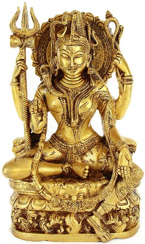 All is Nothing But Shiva and Parvati (Ardhanarishvara) - Brass Statue