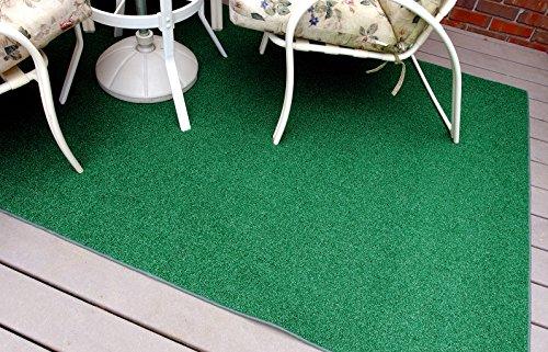Garland Rug 8' x 12' Artificial Grass Indoor/Outdoor Area Rug, Rectangle, Green