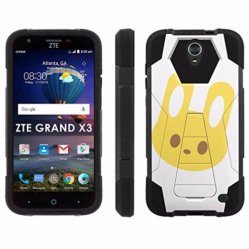 ZTE Uhura Grand X3 Z959 [Warp 7] Phone Cover, Yellow Bunny - Black Hexo Hybrid Armor Phone Case for ZTE Uhura Grand X3 Z959 [Warp 7]