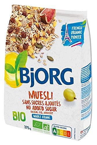 Bjorg Muesli sans Sucres Mélange de Fruits et Céréales Complètes, Bio, 375g (Épicerie)