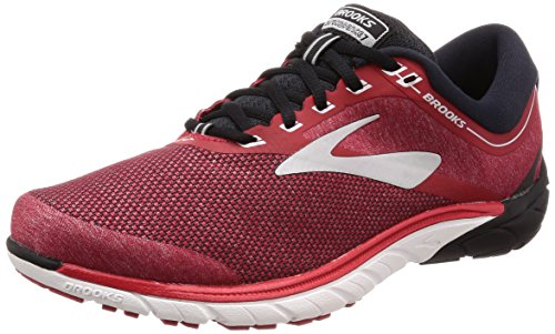 Brooks PureCadence 7, Mens Running, Red/Black/Silver, 9 US