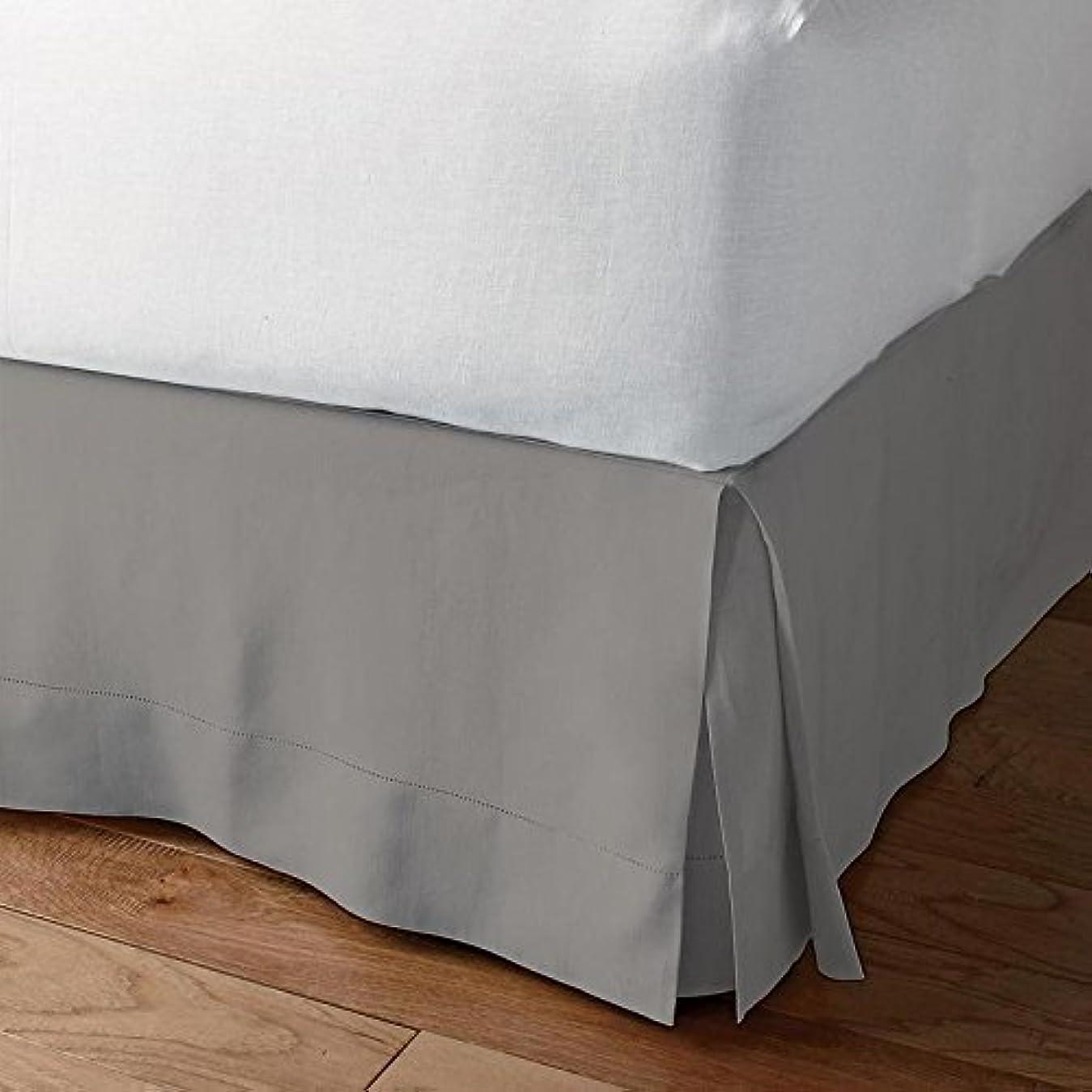 偏見洞察力のある空港ベッドAlter 1000スレッド数豪華な分割コーナーベッドスカート100?%エジプト綿10インチのドロップソリッドすべてのサイズと29色) フル シルバー 1SCBADBSSO2410TCASilverF