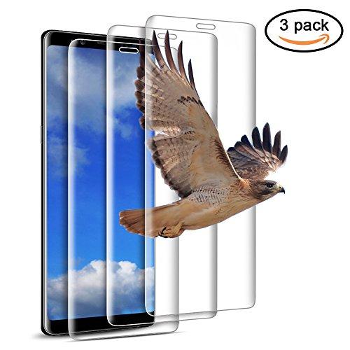 Enshant - Protector de pantalla de vidrio templado para Samsung Note 8, con alta transparencia, resistente a los arañazos, fácil de instalar (sin burbujas de aire) - 3 unidades