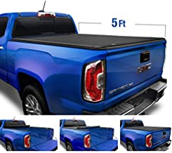 Tyger Auto T1 Soft Roll Up Truck Bed Tonneau Cover for 2019-2020 Chevy Colorado/GMC Canyon Fleetside 5'2