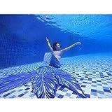 Traje de baño de cola de sirena para niñas, traje de baño de sirena de sirena a medida para acuarios (color: estilo A, tamaño: a medida)