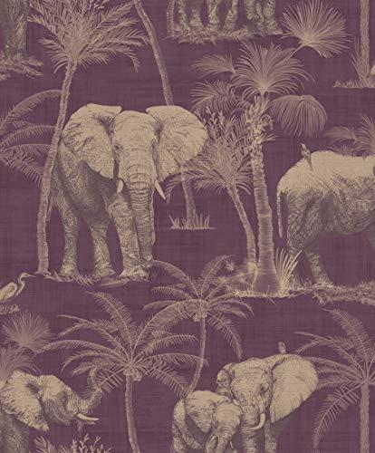 Papel pintado para pared con diseño de elefantes de Arthouse
