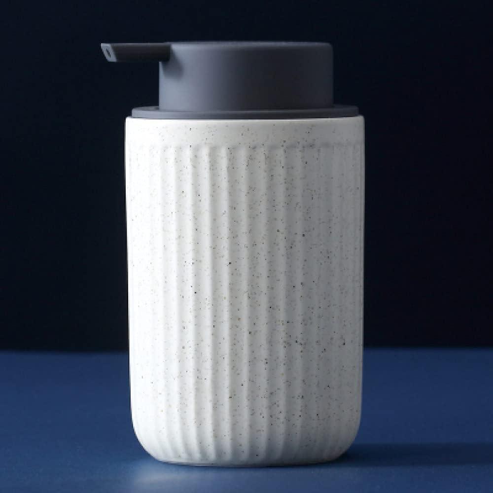 Al sold out. Hand Soap Dispenser Refillable Ceramic Lotions Disp Matte Long Beach Mall Stripe