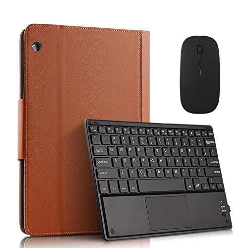Teclado Bluetooth para Tableta Caso para LN Tab M10 TBX605L TBX605F TBX605I Tableta de 10,1 Pulgadas Tableta de Bluetooth Desmontable magnéticamente Cubierta de la Caja Tablet con Funda