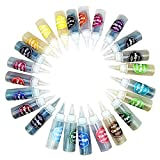 One Step Tie Dye Kit, 24 Colors Fabric Dye Kit for Kids Adults and Groups with Rubber Bands, Gloves and Table Cover Dyeing Fabric Tie-Dye Kit, Non-Toxic Tie Dye Supplies for Party Gathering Festival