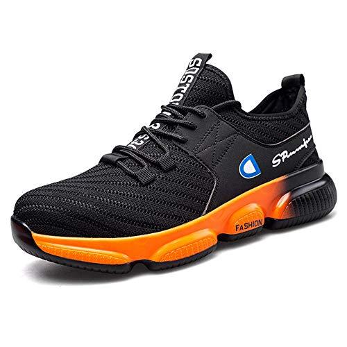 Zapatos de Seguridad para Hombre,Adecuado para el hogar, el Trabajo, la Industria, la construcción, el Restaurante, el almacén, la Cocina, el jardín, etc.