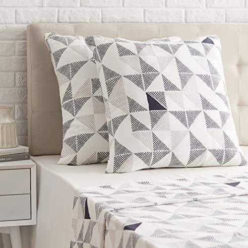 Amazon Basics - Funda de almohada de satén - 65 x 65 cm x 2, Multicolor (Diamond Fusion)