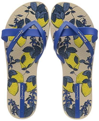 Ipanema Kirei Silk V Fem, Infradito Donna, Multicolore (Beige/Blue 8009.0), 38 EU