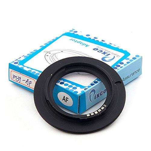Pixco Macro AF Confirm Leica M39 Lente a Sony Alpha/Minolta MA Mount A58 A65 A57 A77 A900 A55 A35 A700 A580 A560 A550 A500 A450 Anillo adaptador de cámara