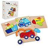 Felly Juguetes Bebes, Puzzles de Madera, Juguetes Montessori para...