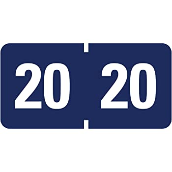 Smead ETYJ Color-Coded Year Labels, 2020, Dark Blue 500 Labels per Roll (68320)