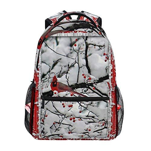 Backpack Sports Backpack,Cardinal 6153 Frame Christmas College School Book Bag Unisex Casual Rucksack 40cm(H) x29cm(W)