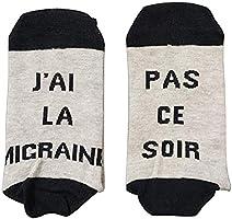Funny Socks Chausettes Drôle Si Tu vois ça,Apporte Moi Une Bière Les Chausettes Cotton écrivent en Française Thick Socks...