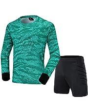 WHZDQ Voetbal Doelman Uniform Kleurrijke patroon keeper anti-botsing beschermende kleding voetbal shirt en broek voor volwassenen en kinderen
