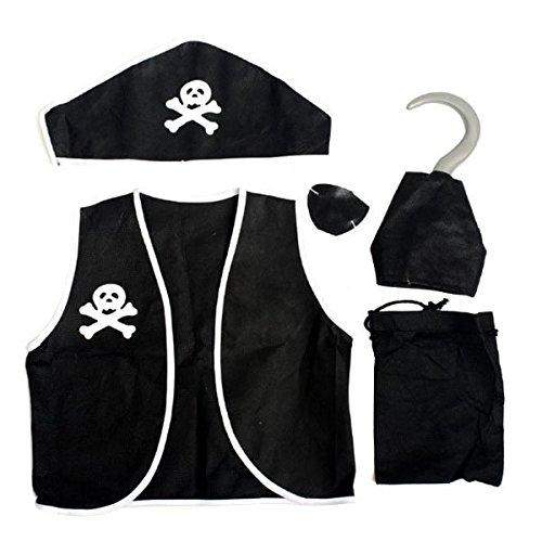 Bazaar Halloween Party Pirate 5 in 1 pak kostuums voor kinderen en volwassenen