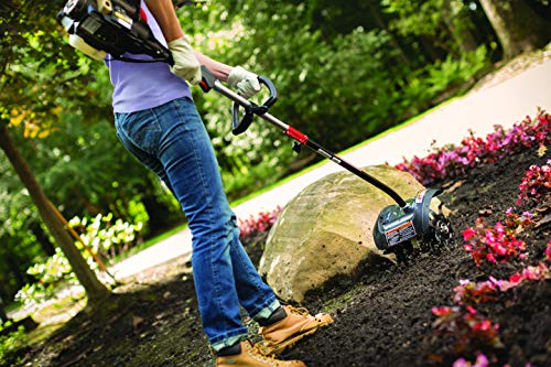 Trimmer Plus TPG720 Garden Cultivator Four Premium Tines for Attachment Capable String Trimmers Polesaws, and Powerheads-Outdoor Lawn Care Power Equipment Add-On, Black and Red