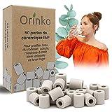 orinko - 50 microesferas de cerámica EM® - Mejora la calidad del agua - Reduce la cal - Apto para lavadora y para 2 decantadores, botellas, calabazas, cafetera, hervidores