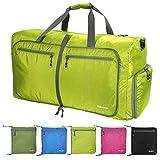 Reisetasche Groß, 85L Leichte Faltbare Reise-Gepäck Seesack Handgepäck Duffel Taschen Weekender Übernachtung Taschen Reisetaschen Sporttasche für Sport Reisen Gym Urlaub (Grun)