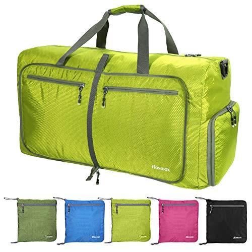 Pujuas Borsa da Viaggio, 85L Leggero Bagaglio da Viaggio Pieghevole, Duffel Bag Bagaglio a Mano, Duffel Bags Weekender, Borsa Sportiva per Lo Sport Viaggio Palestra (Verde chiaro)