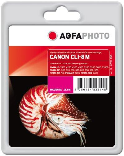 AgfaPhoto APCCLI8MD CLI-8 M mit Chip Druckerpatrone für Canon, magenta