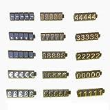 PC3721@ 1 Kit de cubos de precio para vitrina de tienda (340 cubos, Oro sobre Negro)