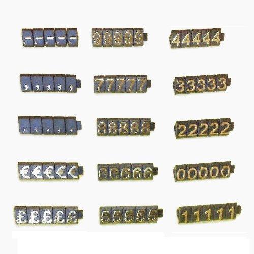 PC3721@ 1 Kit de cubos de precio para vitrina de tienda (340...