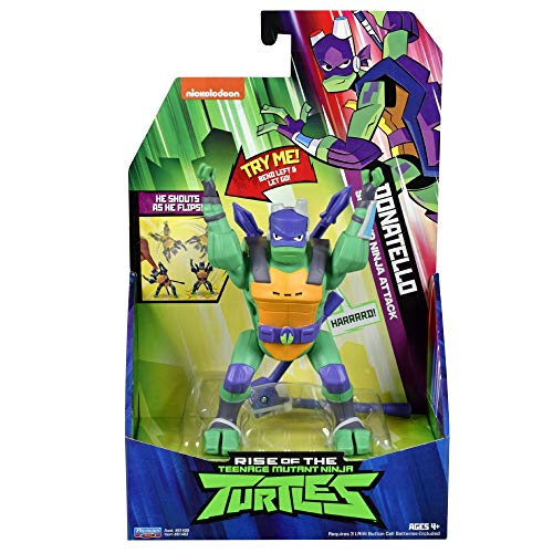 The Rise of The Teenage Mutant Ninja Turtles - Figuras de acción de Ataque Ninja de Lujo - Donatello SideFlip Attack
