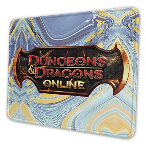 vjgdlz Mouse Pad Dungeons Dragons Online Rectángulo Oficina Teclado De Goma Duradero Alfombrilla De Ratón Mesa Impresa Antideslizante Computadoras Personalizadas Anime Colorido Personali