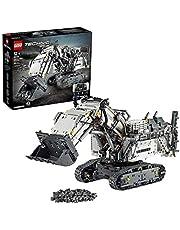 LEGO 42100 Technic Liebherr graafmachine R 9800, app-gestuurd constructiespeelgoed voor gevorderden met smarthub en interactieve motoren